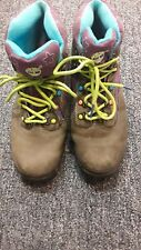 WOMENS TIMBERLAND Grey PURPLE GREEN Low ankle boots size 7 U S