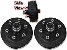 6 x 5.5 Pair of Brake Assembly Spindle Kit Stub End Unit Trailer Axle 3500 84