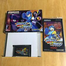 Boxed JAPANESE Gameboy Advance GBA: Rockman & Forte AGB-AFCJ Mega Man & Bass