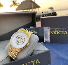 $895 Invicta Objet D Art Automatic Skeleton Exhibition Timepiece Gold Watch
