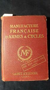 Catalogo de  La Manifacture Francaise d'Armes et Cycles de Saint Etienne 1931
