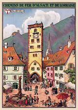 Affiche chemin de fer Alsace Lorraine - Ribeauvillé