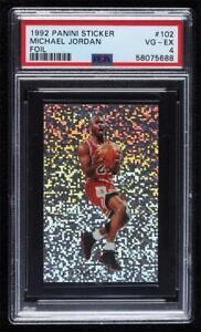 1992-93 Panini Album Stickers Michael Jordan #102 PSA 4 HOF