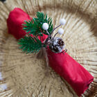 CHRISTMAS METAL NAPKIN RINGS 16 DESIGNS XMAS DINNER WEDDING PACK OF 6 CHRISTMAS