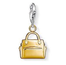 New Genuine Thomas Sabo Sterling Silver Gold Plated Handbag Charm 0966 £45.00