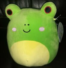 """2021 bnwt New Rare htf Kellytoy Squishmallow 8"""" Exclusive WENDY the Green Frog"""