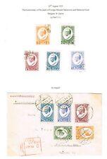 LATVIA MEMORIAL MEIEROVICS 1929. SET AND COVER. See Description