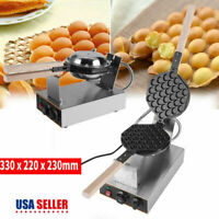 110V Electric Bubble Egg Cake Maker Oven Non Stick Waffle Baker Machine US STOCK