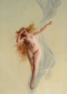 Dawn, detail, 1896, LUIS RICARDO FALERO Fantasy Art Poster