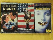3 Best Picture Winner VHS movies: Casablanca, Patton, Silence of the Lambs