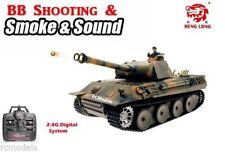 Heng Long German Panther 2.4G radio remote control rc 1/16 BB shooting Smoke UK