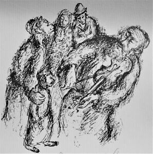 Yosl BERGNER The Fiddler - Original Signed Jewish Screenprint Music, Collectible