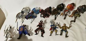 PAPO  Medieval  Knights  Figures and Armored HORSES 11 piece  Lot.  2007