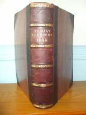 THE FAMILY TREASURY 1874 REV WILLIAM ARNOT BOOK LEATHER RELIGION HOLY BIBLE RARE
