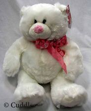Pink Beary White Teddy Bear Ganz Plush Toy Stuffed Animal Love Heart Soft Bnwt
