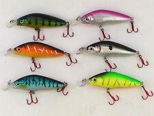 6 Fladen Warbird Crank Minnow Floating Plugs 8cm 8g Rattler Perch Salmon Bass