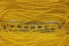 Trans Yellow 11/0 Czech Glass Seed Beads/ Hank