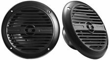 "PLANET AUDIO 180W 6.5"" Dual Cone Coaxial Marine Speakers (Black) | PM60B"