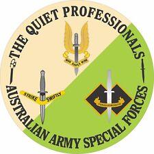 THE QUITE PROFESSIONALS  AUSTRALIAN SPECIAL FORCES LAMINATED VINYL STICKER 110MM