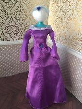 Jasmine Aladdin Purple Dress Gown Disney Doll Barbie Wardrobe Headband