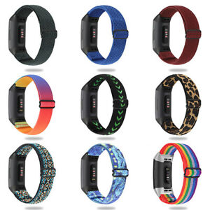 Nylon Woven Fabric Fashion Watch Strap Wristband For Fitbit Charge SE 5 4 3 2