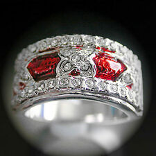 Cubic Zirconia White Gold Plated Statement Fashion Rings
