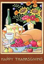 Mary Engelbreit-Happy Thanksgiving Feast Cherry-Thanksgiving Card w/Envelope-New