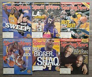 Lot of 6 Shaq O'Neal Sporting News Magazine NBA Los Angeles Lakers LEGEND