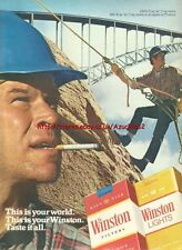 "Winston Cigarette ""This Is Your World"" 1980 Mag. Advert #3591"