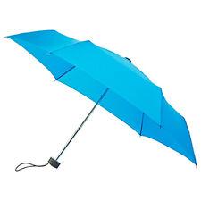 Señoras Minimax plana Supermini Paraguas Plegable Manual Resistente al viento-Azul