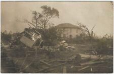 1900s Tornado Destroys House & Trees Real Photo Postcard