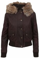 BELSTAFF Damen Winter Jacke Women Jacket CRAYFORD BOMBER LADY Kaninchen Fell Fur