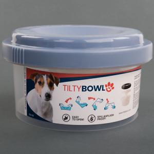 Tilty Bowl Größe M blau Trinknapf für Hunde und Katzen - Auslaufsicher