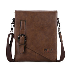 PU Leather Mens Messenger Bag Business Men Shoulder Bag Crossbody Bag NEW