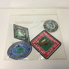Extremely Rare Set of FOUR SEALED 1999 Hooters Fishing Tournament Patches VHTF