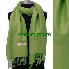 New Pashmina Paisley Floral Silk Wool Scarf Wrap Shawl Soft Fruit green #S206