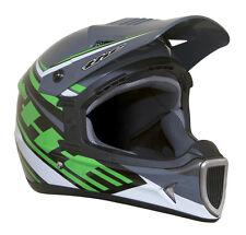 THE Thirty3 Tracer Composite Full Face MTB Helmet - Black/Green - Medium