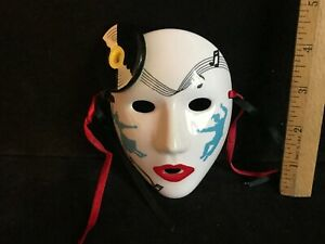 Vintage 1987 Pelzman Designs Vandor Korea Hand Painted Rock & Roll Ceramic Mask