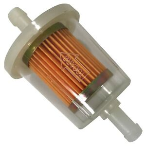 """Pack of 10 G15 3/8"""" Universal Clear Plastic Fuel Filter Fits 54-83 Most Vehicles"""