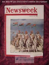 NEWSWEEK Magazine August 25 1952 EGYPTIAN ARMY RV TRAILERS