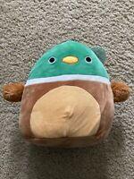 "Kellytoy Squishmallows 3.5"" Clip On Key Chain Avery the Mallard Duck NEW LT ED"