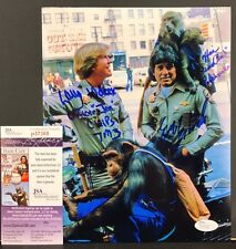 CHiPs TV Signed 8x10 Photo Larry Wilcox Eric Estrada JSA Autographed Signature
