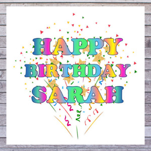 BIRTHDAY CARDS personalised with any MALE or FEMALE NAME