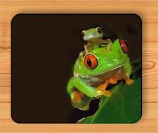 FROG RED EYE AND SON MOUSE PAD -drs2Z