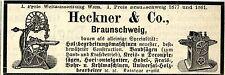 Heckner & Co. Braunschweig HOLZBEARBEITUNGSMASCHINEN Annonce 1883
