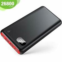 Portable Charger Power Bank 26800mAh Ultra High Capacity with Flashlights NEW