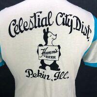 True Hilton Vintage L Mens Bowling Shirt HAMM'S BEER 1950s 60s Rockabilly RARE