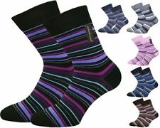 Machine Washable Striped Casual Socks for Women
