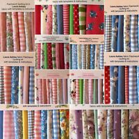80 piece. LAURA ASHLEY FABRIC PATCHWORK QUILTING KIT-WE ARE POSTING AS NORMAL!