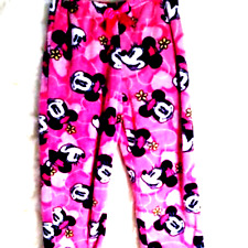 Disney Girl Fleece Minnie Mouse hot Pink black elastic waist 10/12 Large 375